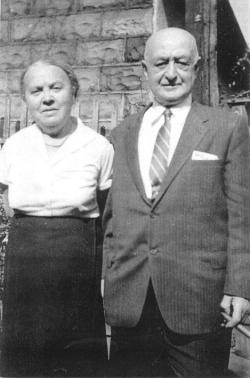 Lazarus und Doris Eisen in Brooklyn (ca. 1950)