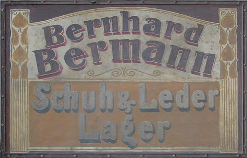 Bermann shop sign