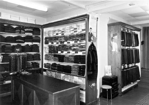The interior of the clothing store