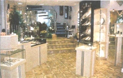 The interior of the store as a jewelry shop.